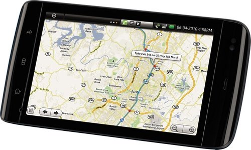 Dell Streak tablet GPS picture