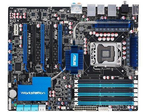 ASUS P6X58-E WS LGA1366 X58 Intel work station motherboard image