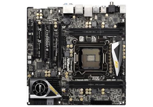 ASRock X79 Extreme4-M Sandy Bridge E microATX LGA 2011 motherboard image