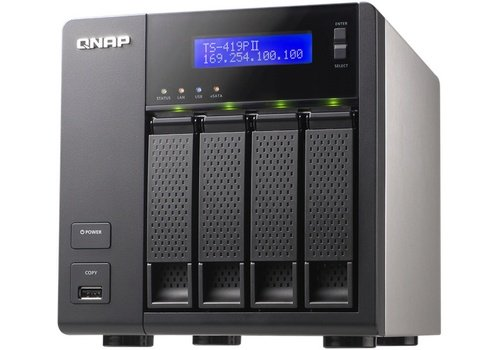 QNAP TS-419P II NAS network attached storage image