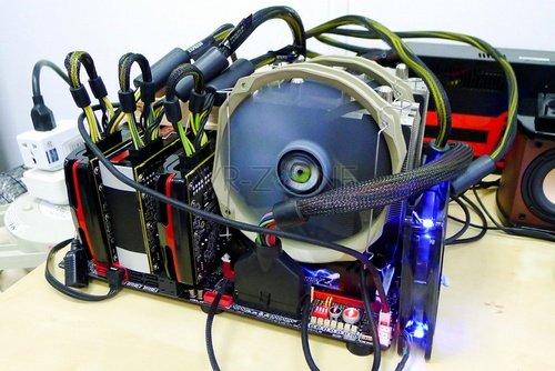 AMD Radeon HD 7970 Triple CrossFireX setup video card image