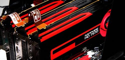 Sapphire Radeon HD 7970 3way CrossFireX video card image