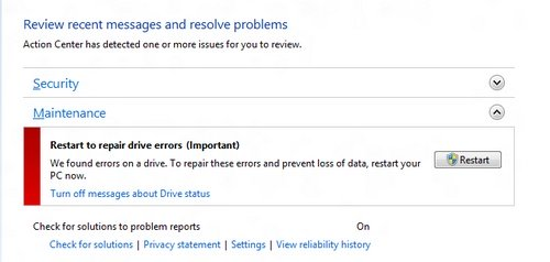 Microsoft Windows 8 chkdsk improvements image